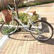折り畳み 自転車 サイクリング シティサイクル WACHSENBC-626-WBBC-626-IG ヴァクセン バイクフレーム 高級 折りたたみ自転車 カゴ付 26インチ ママチャリ 送料無料 ホワイト おしゃれ