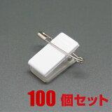 [メール便対応] 名札クリップ/樹脂タイプ/テープ付き 100個セット