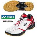 即納可★ 【YONEX】ヨネックス パワークッション 650 3E設計 バドミントンシューズ ユニセックス SHB650 053 レッド/ブラック(shb-650-053-16skn)