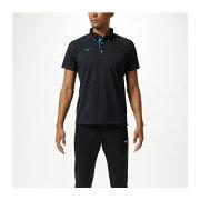 ◆◆送料無料 メール便発送 <ミズノ> MIZUNO ポロシャツ[ユニセックス] 32MA9180 (09:ブラック×ディーバブルー)