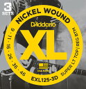 D'addario/エレキ弦 EXL125-3D(3セット入りパック)【ダダリオ】