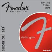 Fender/エレキギター弦 3250 Super Bullets【3250L,3250LR,3250R】【フェンダー旧パッケージ】【メール便OK】