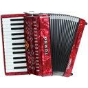 ソプラノは器楽合奏の中で一番華やかに、メロディックに活躍する高音域です。澄んだ美しい音色は、合奏を一層引き立てます。スペック■27鍵/f1〜g3(同音2列笛) ■サイズ:358 x 340 x 260mm ■重量 : 4.2 kg ■ボディカラー:赤パール ■ソフトケース付属