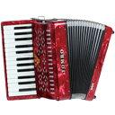 27鍵・32鍵共F1より始まる広い低音域を持つアコーディオンです。合奏での最低音を受け持つ重要な役割を果し、演奏に厚みをもたせます。スペック■27鍵/F1〜g(オクターブ2列笛) ■サイズ:358 x 340 x 260mm ■重量 : 4.5 kg ■ボディカラー:赤パール ■ソフトケース付属