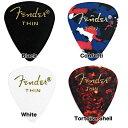 Fender/ピック 351 Shape Classic Picks Thin 10枚【フェンダー】【メール便発送代引