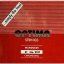 【メール便可】[OPTIMA]オプティマ マンドリン弦 レッド セット弦 8本入り