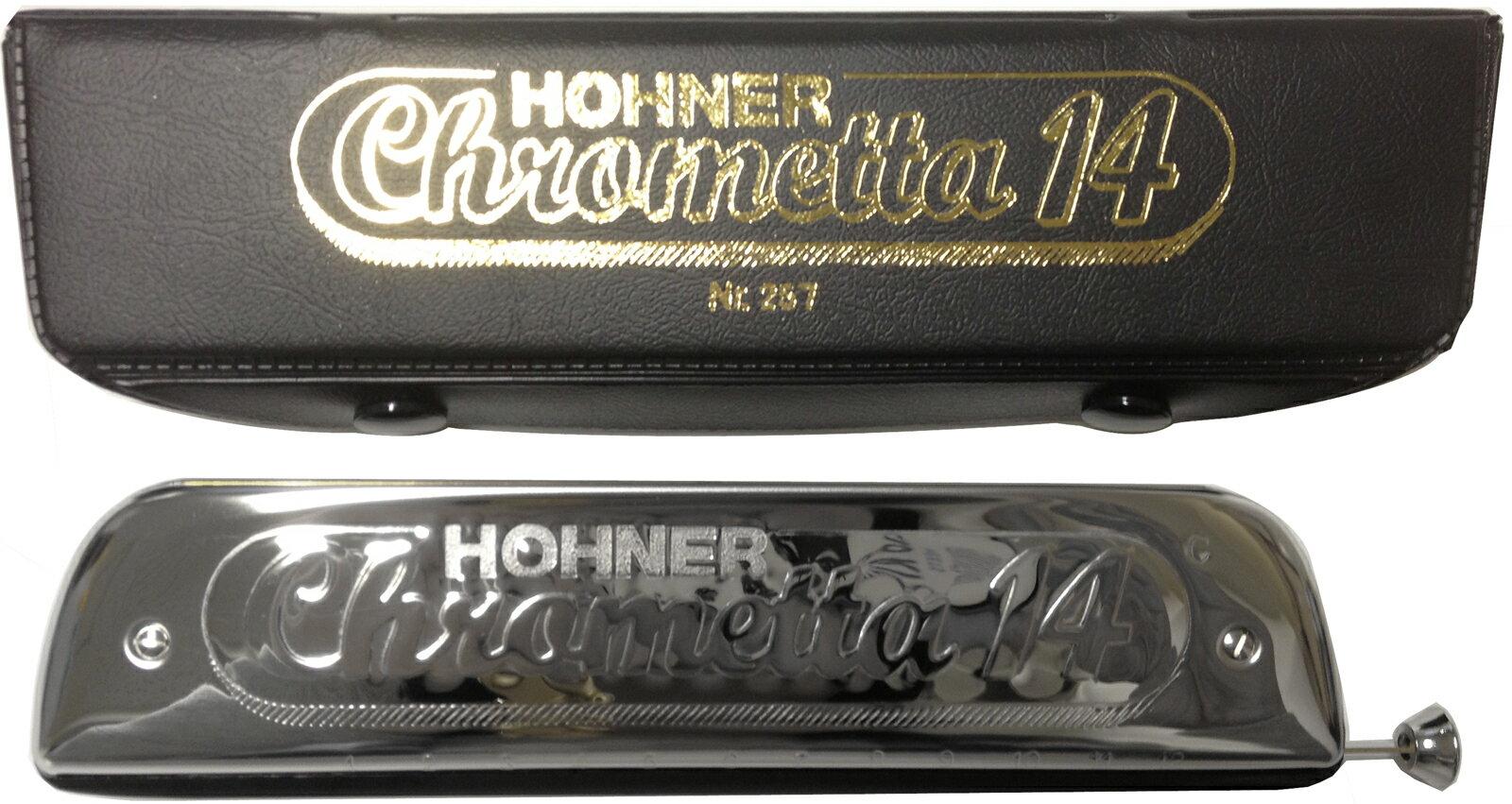 14穴 クロマチックハーモニカ 257/56 クロメッタ14 ホーナー ハーモニカ C調 3オクターブ半 吹きやすい 初心者 おすすめ リード 楽器 HOHNER Chrometta-14 Chromatic Harmonica