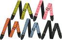 [ メール便 対応可 ] ギターストラップ ジャガード織りタイプ かわいい レトロなストラップ 70年代を彷彿させる 花柄風 刺繍 Guitar Bass Straps Jacquard Straps D67 エンド部分 本革製(レザー) Avalon Fillmore Red Blue Yellow Black 楽器用 ストラップ