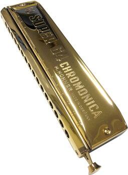 スーパー64ゴールドホーナークロマチックハーモニカ7583/64C調16穴HOHNERSuper-64GoldChromaticHarmonica4オクターブリード楽器スライドハーモニカSuper64シリーズジャズブルースおすすめクロマティックハモニカケース付き
