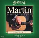 [ メール便 対応可 ] マーチン アコギ弦 エクストラライト M170 緑 マーチン弦 ブロンズ 交換弦 1セット 6本 1弦 〜 6弦 アコースティックギター弦 激安 スタンダード フォークギター弦 MARTIN M-170 Extra Light マーティン ギター ストリングス