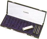 10穴 ハーモニカケース 12本入 テンホールズ ハーモニカ TOMBO 10HC-12 ハードケース 10ホールズハーモニカ ブルースハープ型 ブルースハーモニカ 楽器 持ち運び 保管 トンボ ケース BLUES HARP HARMONICA CASES