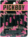[ メール便 対応可 ] ブリッジピン ブラック PICKBOY BP-50/BL 黒 6本 ピンプライ ピン抜き セット アコースティックギター フォーク ギター アコギ パーツ ピックボーイ