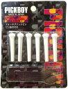 [ メール便 対応可 ] アコギ ブリッジピン ホワイト 6本 PICKBOY BP-50/W 白 ピンプライ ( ピン抜き ) 仕様 楽器 ギター アコースティックギター フォークギター ピックボーイ ブリッジ用 ピン アクセサリー