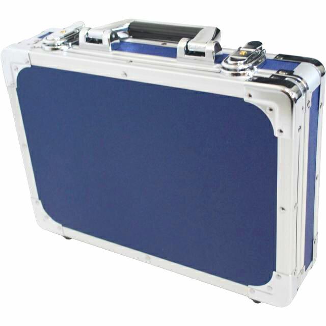 エフェクターケースSサイズ蓋と分かれるセパレートタイプ箱形ハードケースカラーブルーBLエフェクターボ