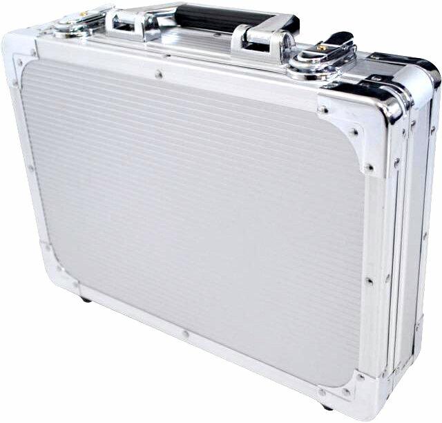 エフェクターケースSサイズ蓋と分かれるセパレートタイプ箱形ハードケースカラーシルバーSVエフェクター