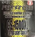 [ メール便 対応可 ] フェルナンデス エレキギター弦 3セットパック GS-500 ×3 FERNANDES GS-1500 XL エレキ ギター弦 エクストラライト ゲージ 1弦 09 〜 6弦 42 エクストラ ライト エレキ弦 GS-1500XL 3セット パック エレキギター 弦 3個 セット