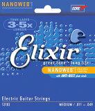 [邮件投递可对应]3倍?Web Elixir 12102耐久5倍的 电吉他弦 elixir 表面涂层弦11-49 纳米 中等号码量规1套1弦011[[ メール便 対応可 ] 3倍〜5倍長持ちする エレキ弦 エリクサー コーティング弦 11-49 ナノウェブ