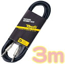 3m ケーブル 黒 RT-3 楽器 エレキギター ベース エレアコ アンプ エフェクター 接続 シールド 3メートル ストレート プラグ S/S S字 シールド...