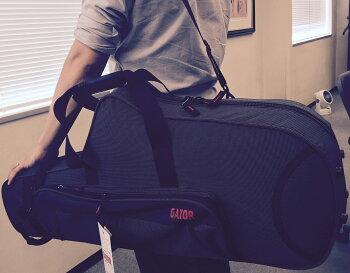 リュック肩掛けテナーサックスケースGATORGL-TENORSAX-Aカラーブラック軽量型抜きセミハードケース楽器収納サックスケース持ち運びおすすめゲーターショルダーストラップ付きBANDSTRAPセット送料無料