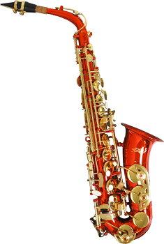 限定赤いアルトサックスオリジナルオーダー品A-50RED送料無料(一部除く)サックス楽器本体マウスピースリードケースセット初心者入門者プレゼントにおすすめ激安レッドアルトサクソフォーン管楽器特価かわいい赤色ゴールド