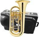 JUPITER ( ジュピター ) 送料無料 4ピストン ユーフォニアム JEP-470L 新品 トップアクション ゴールド ラッカー 楽器 B♭管 本体 イエローブラス ベル 管楽器 在庫限り