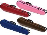 送料無料 4/4サイズ 3/4サイズ バイオリンケース CFV-2R スリム 軽量 リュックタイプ カーボンファイバー製 弦楽器 カラー ハードケース