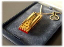 [ メール便 対応可 ] HOHNER ( ホーナー ) ハーモニカ ネックレス リトルレディ 110/8 ゴールド アクセサリー ブルースハープ 型 ミニハープ 1オクターブ 4穴 8音 楽器 ペンダント