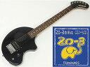 FERNANDES ( フェルナンデス ) ZO-3 (BLACK)+GSZ500セット【ZO-3+ZO-3専用弦のセット】【ZO3プレゼントキャンペーン 】 ミニギター エレキギター アンプ内蔵