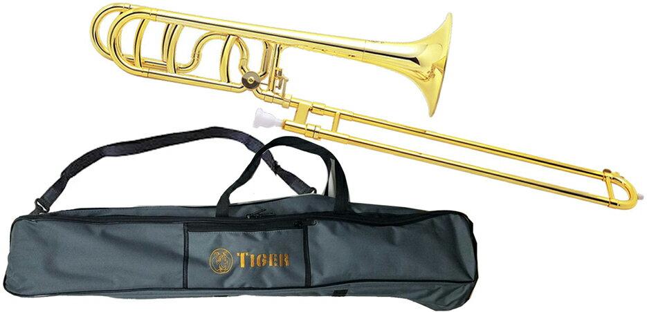Tiger(タイガー)トロンボーンTB-08Gゴールド調整品新品プラスチック製B♭/Fテナーバストロ