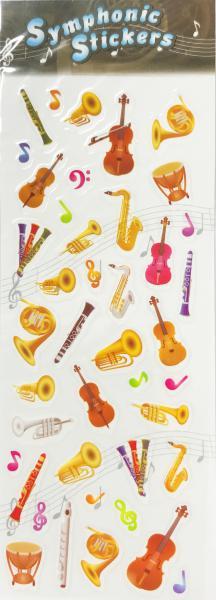 アウトレットシンフォニックステッカー管楽器ミックス吹奏楽楽器シール1シート管楽器アクセサリーBras