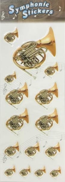 アウトレットシンフォニックステッカーホルン吹奏楽楽器シール1シート管楽器アクセサリーfrenchho