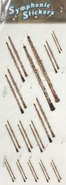 アウトレットシンフォニックステッカーオーボエ吹奏楽楽器シール1シート管楽器アクセサリーoboe