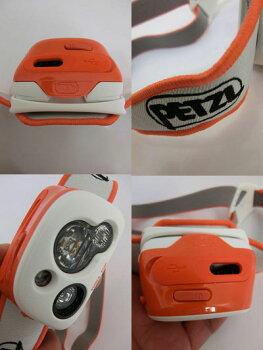 PETZLペツルティカRXPE95リチャージャブルヘッドライトコーラルブラック