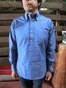 ショッピングINDIVIDUALIZED INDIVIDUALIZED SHIRTS(インディビジュアライズドシャツ)Standard Fit Long Sleeve ボタンダウンシャンブレープルオーバー ネイビー USA製 送料無料