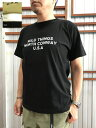 WILDTHINGS ワイルドシングス【SALE】WT20046K PLACE TEEロゴTシャツ Sand Black White