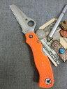 スパイダルコ Spyderco レスキュー79 オレンジ 波刃 VG-10 緊急対策 アウトドアアナイフ クライミング ザイル切断に【送料無料】