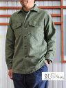 orslow ORSLOW オアスロウ メンズシャツ メンズシャツジャケット 03-8045-16 US ARMY SHIRTS アーミーシャツ シャツジャケット Gre..