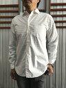 MANUAL ALPHABET マニュアルアルファベット MA-S-302 ルーズフィット レギュラーカラーシャツ White ホワイト
