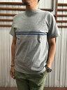 STUDIO ORIBE(スタジオオリベ)DELICIOUS(デリシャス)Heavy Whight Line PrintTee ラウンプリントTシャツ White Grey