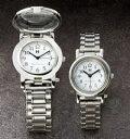 おしゃれな腕時計が老眼鏡代わりに!ルーペ付きペアウォッチ