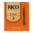 リード リコ Bbクラリネット アンファイルド 硬さ:3(10枚入)(198700/RCA1030 RRI10BCL300 LRIC10CL3 )