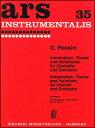 楽譜 ロッシーニ/序奏、主題と変奏(50149410/クラリネット/輸入楽譜(T))