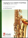 楽譜 「メリー・ポピンズ」ハイライト(サックス)(HL44010717/サックス4重奏(編成:AATB)/輸入楽譜(T))