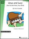 楽譜 ヴィンス・ガラルディ/ライナス・アンド・ルーシー(00155326/1台4手ピアノ連弾/輸入楽譜(T))