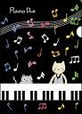 KB006 ネコイツ A4クリアファイル ピアノ 【10P03Dec16】