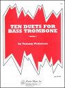 楽譜 ペダーソン/バス・トロンボーンのための10の二重奏曲集(/17500/バス・トロンボーン2重奏 (スコア)/輸入楽譜(T))