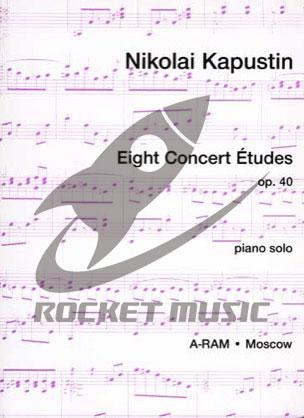 [楽譜] カプースチン/8つの演奏会用エチュード《輸入ピアノ楽譜》【DM便送料無料】(Kapustin - Eight Concert Etudes Opus 40)《輸入楽譜》