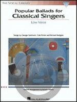 [楽譜] クラシック歌手のための人気のバラード集(低声