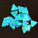 オパール 三角 Mint 4mm 1個 トライアングル ミント 耐熱ガラス用 ガラスオパール 人口オパール opal アメリカ製
