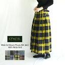 O'NEIL OF DUBLIN オニールオブダブリン Wide & Allover Pleats Kilt skirt With Wide Belt NOD0853 総プリーツ太ベルト付きキルトスカート レディース ロングスカート 巻きスカート ウール タータンチェック